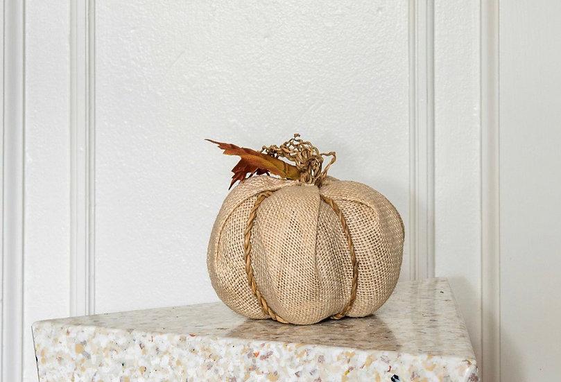 Handmade Hessian Pumpkin