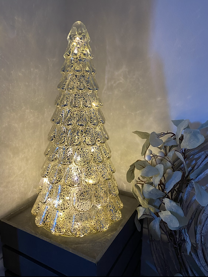 Centrepiece Glass Speck LED Tree