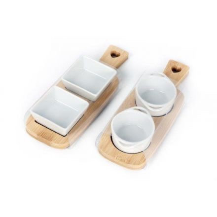 Twin Ceramic Dip/Snack bowls
