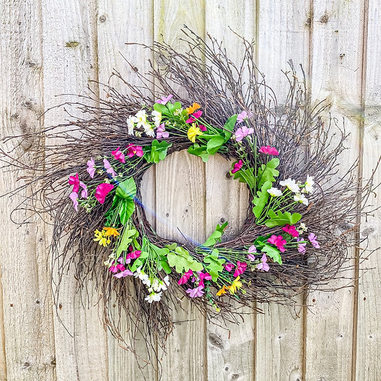 Wildflower Twig Wreath