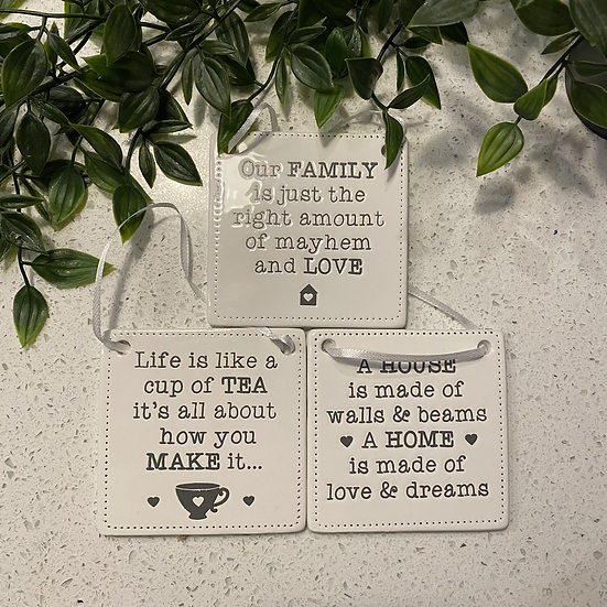 Ceramic Homely Quote Plaques