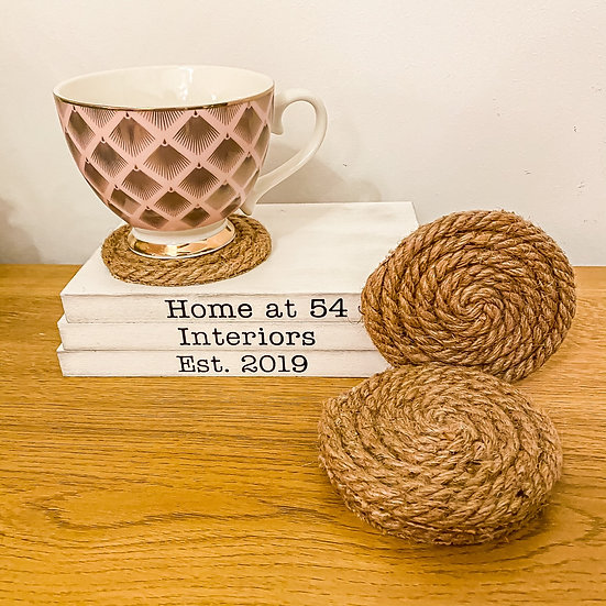 Natural Jute Rope Coasters - Set of 4