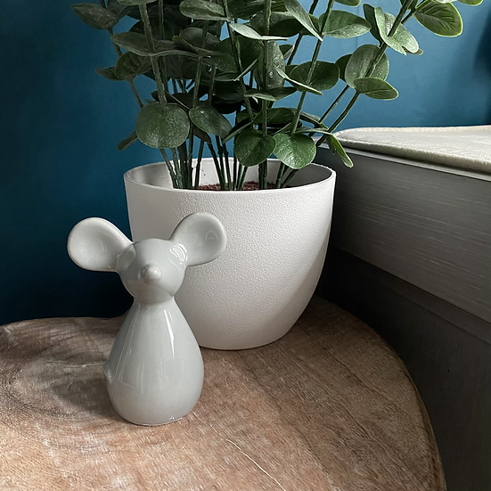 Grey Ceramic Mouse