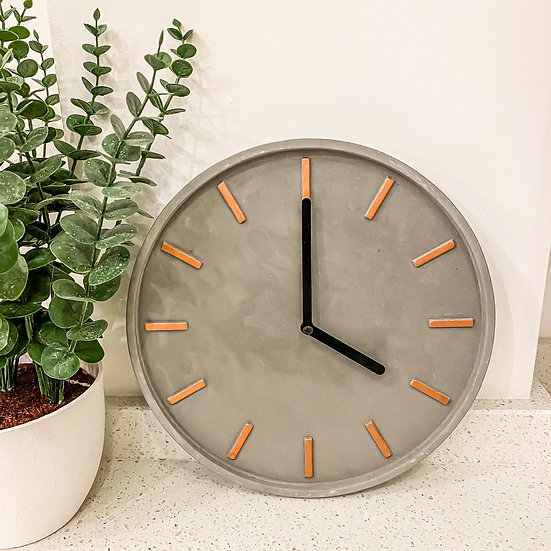 Cement Wall Clock