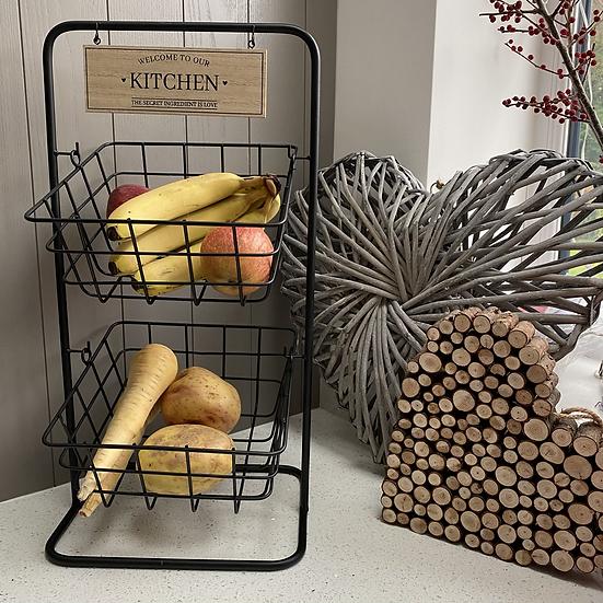 Kitchen Tiered Hanging Baskets