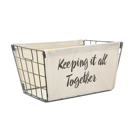 Keeping it all Together Wire Basket