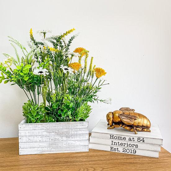 Wildflower Rustic Crate