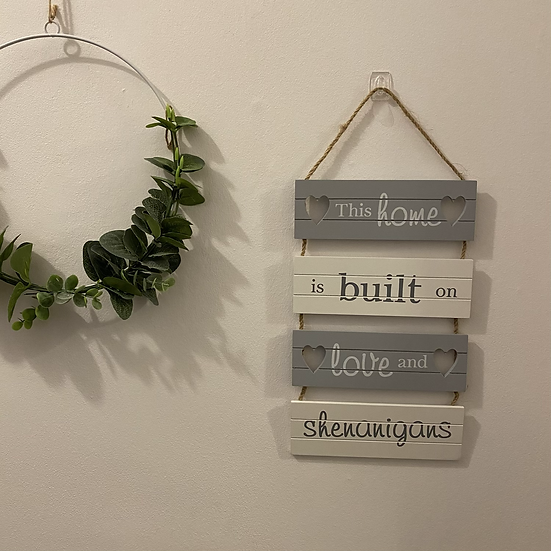 'This home is built on...'