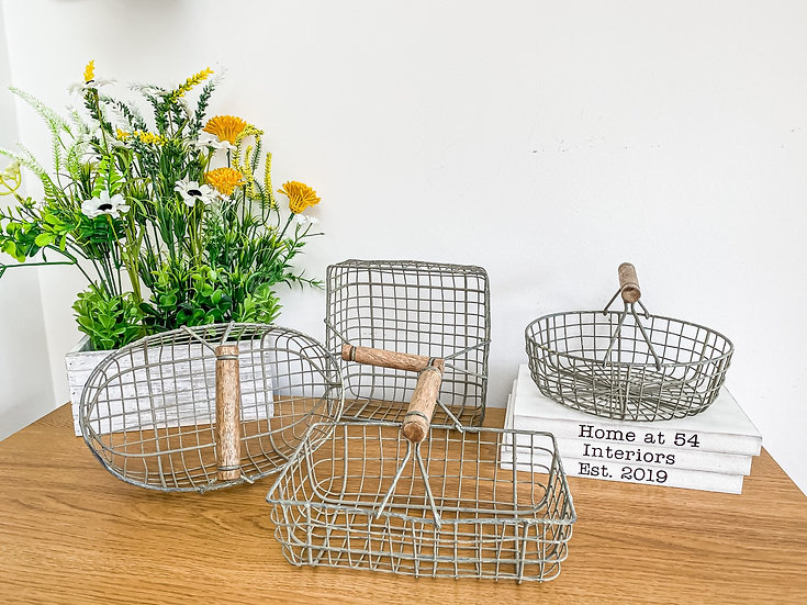 Grey Wire Baskets