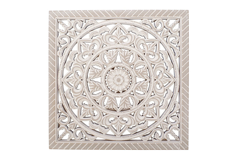 Ornate Carved Wall Plaque