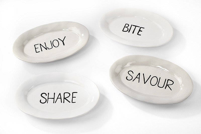 Set of 4 Snack Dishes