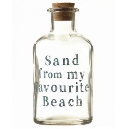 Sand from my favourite beach - Glass Bottle
