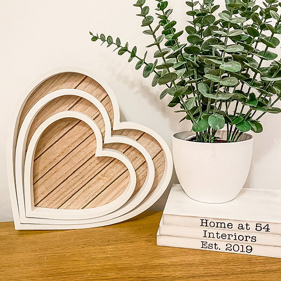 Perfectly Imperfect Set of 3 Heart Trays