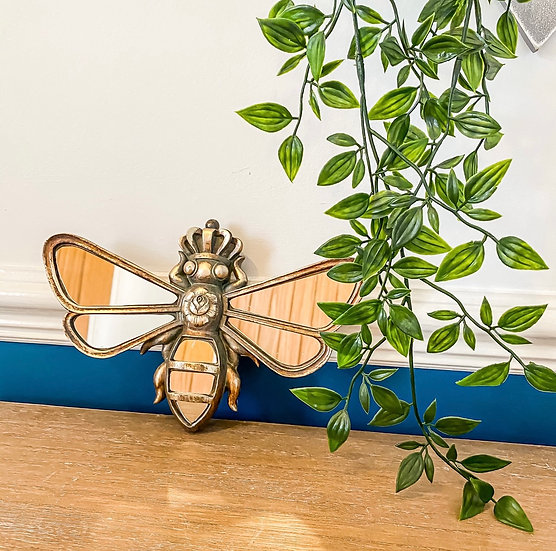 Gold Mirrored Bee Plaque