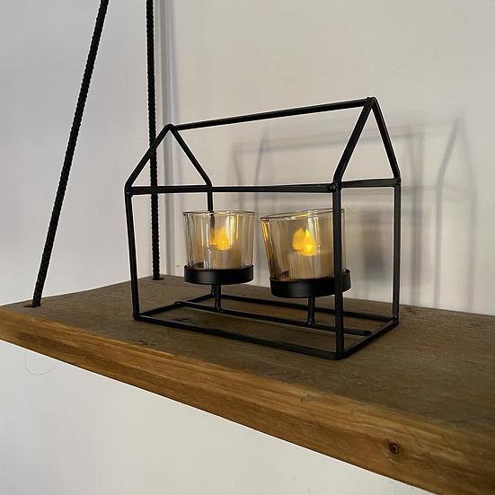 Geometric House Tealight Holder