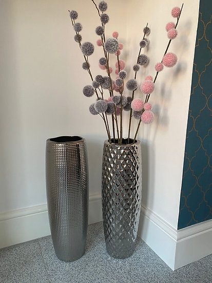 Silver Textured Vase