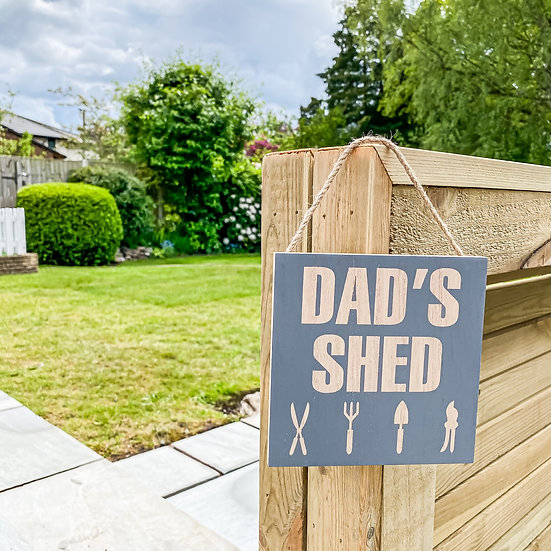 Dads Shed Plaque