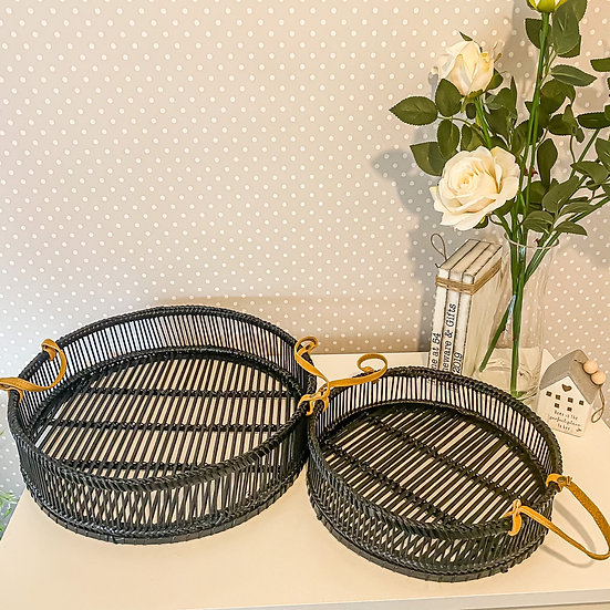 Bamboo Trays - Set of 2
