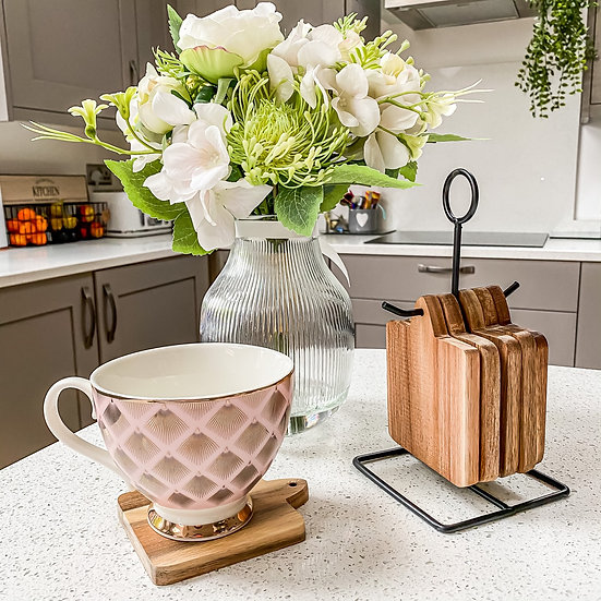 Coaster Set with Stand