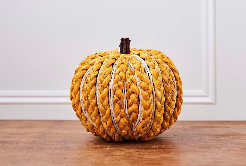 Handmade Plait Straw Pumpkin