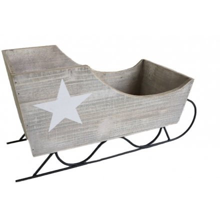 *PREORDER* Grey Sleigh with Star Detail