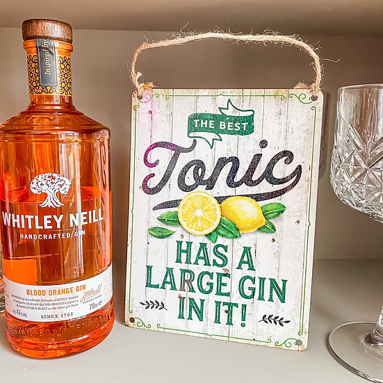 'The Best Tonic' Metal Sign