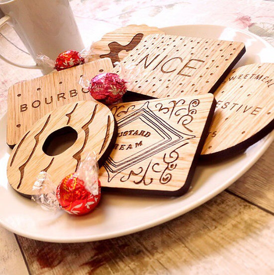 Biscuit Coasters - Set of 6 - **PRE-ORDER**