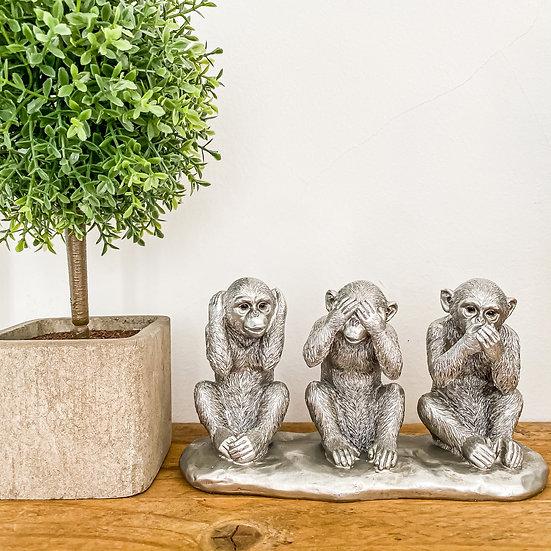 Silver Three Wise Monkeys