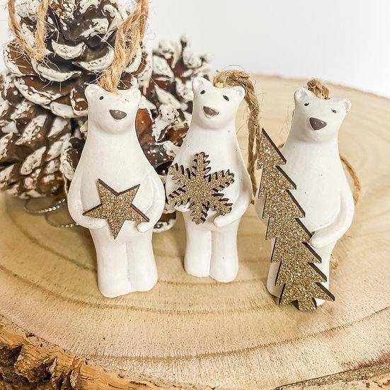 Hanging Polar Bears - Set of 3