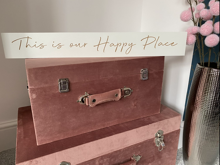 'This is our Happy Place' wooden sign