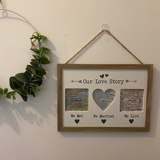 'Our Love Story' Frame