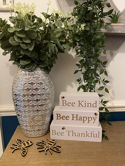 Silver Luxe Bee Vase