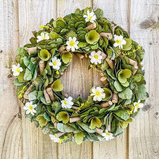 PreOrder White Daisy Wreath