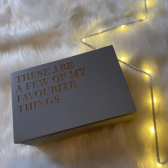 'Favourite Things' Trinket Box