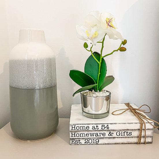 Ombré Glaze Grey Vase