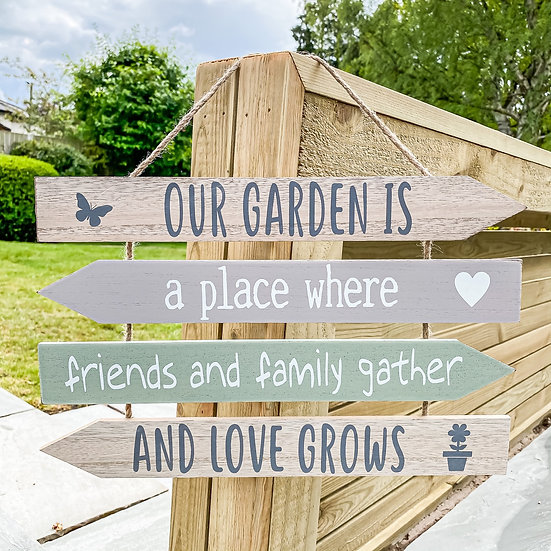 'Our Garden' Slatted Sign