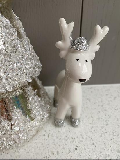 White Ceramic Reindeer