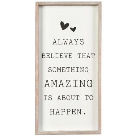 'Something Amazing...' Framed Quote