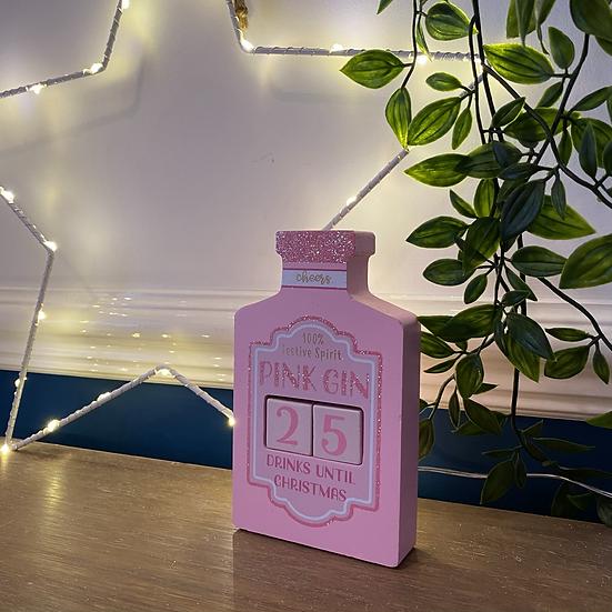 Glitter Pink Gin Christmas Countdown