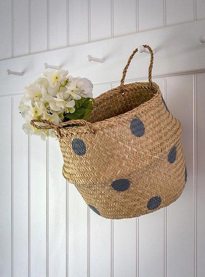 Grey Spot Belly Basket