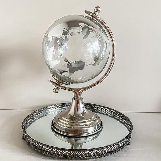 Decorative Globe - Nickel/Silver