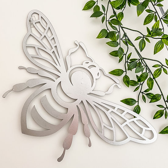 Silver Bee Wall Plaque