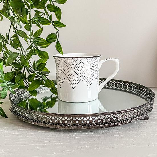Art Deco Glam Mug - Fan Dot