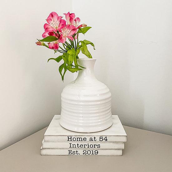 Sage Vase Gloss White