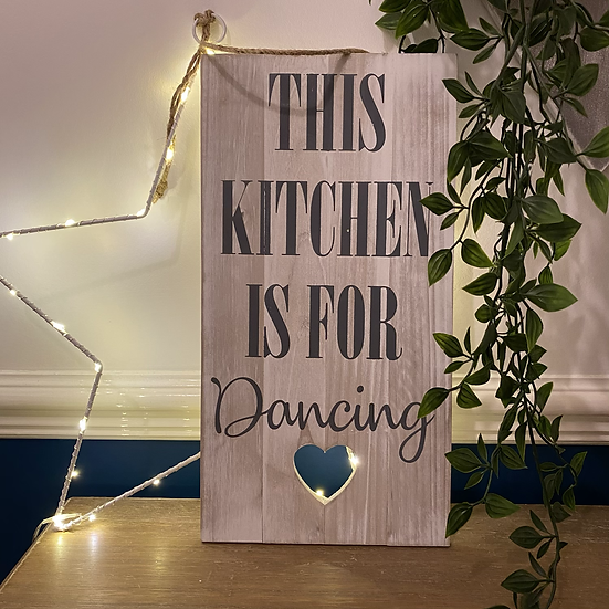 'Kitchen is for Dancing' Hanging Sign