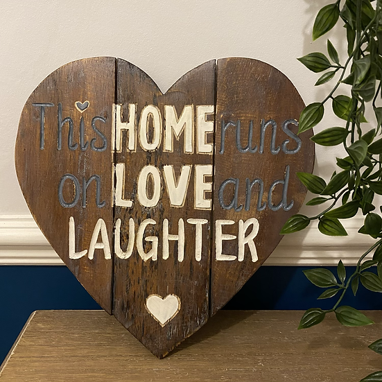 'This Home' Wooden Heart Plaque