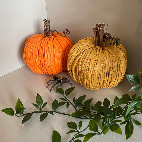 Straw Pumpkins