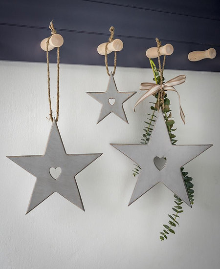 Heart Cutout Stars - Set of 3