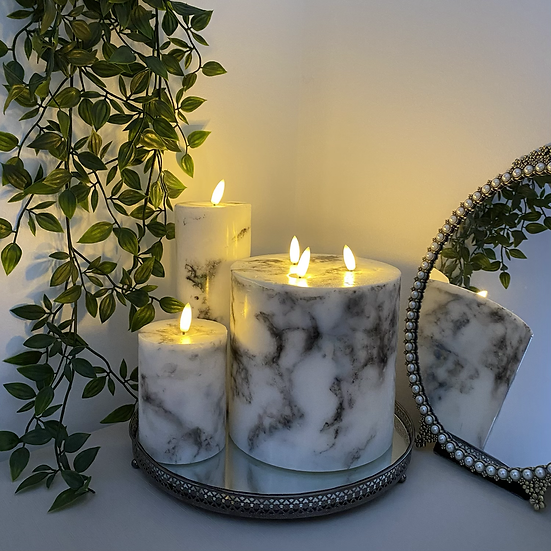 LUXE LED Marble Candles