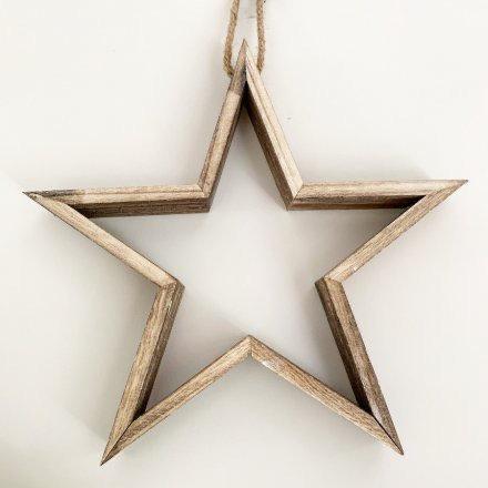 Natural Wooden Cutout Star